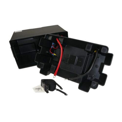 Power Centre Battery Box 105A with 12V Watertight Connector Boat   BATB105BK