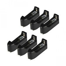 6pcs Single Charger For Rechargeable 18650 16340 14500 CR123A Li-ion Batter