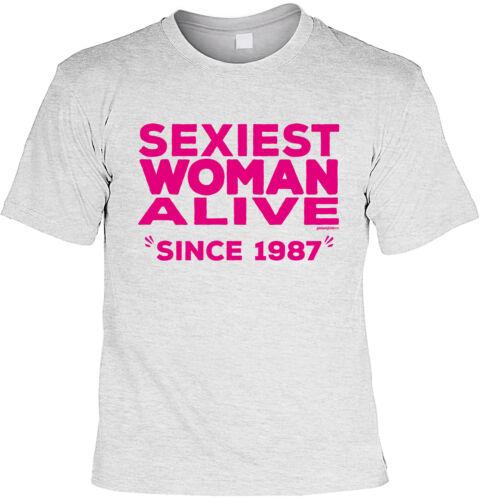 Geburtstag 32 Jahre Frauensprüche Mama Jahrgang 1987 32.Geburtstag T-Shirt