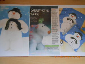 SNOWMAN TOY + SNOW DOG + BLANKET AND CUSHION KNITTING ...