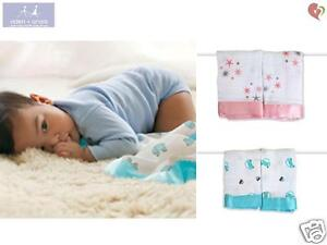7e8c113b5e ADEN+ANAIS COTTON MUSLIN BABY ISSIE SECURITY BLANKET x2