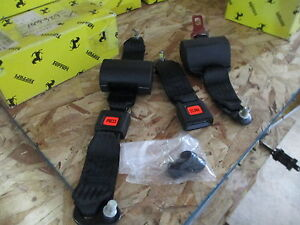 ferrari mondial rear seat belt set part 61245500 ebay. Black Bedroom Furniture Sets. Home Design Ideas