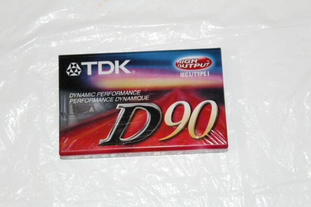 TDK D90 High Output Dynamic Performance Type 1 Audio Cassette 90 Minute IECI