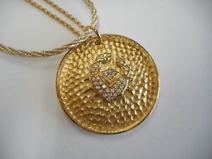 Daniela-Swaebe-Jewelry-Zodiac-Sign-Cancer-Goldtone-CZ-Pendant-18-034-Necklace