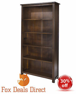 Charmant Image Is Loading Bookcase Dark Wood Large Tall Wide Adjustable Shelves