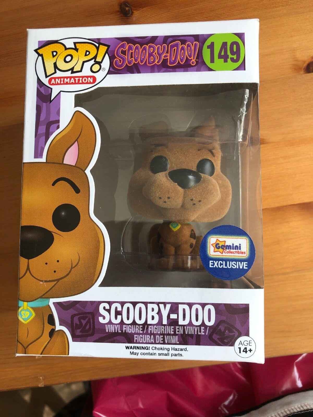 Scooby Doo Funko Pop Flockad Tvilling Sällsynt Original