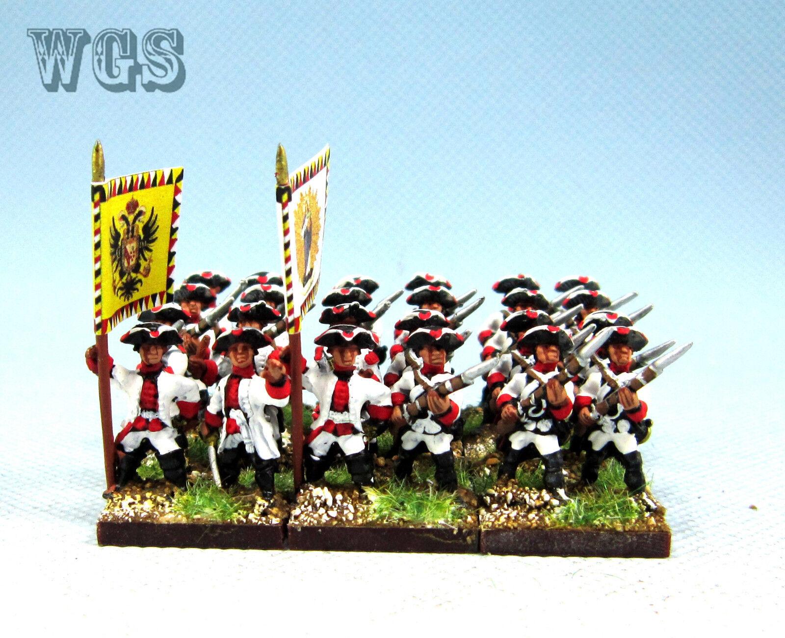 15mm Syw Seven Years War un Pintado austríaco Mosquetero batallón AA18