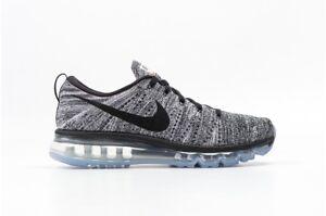 Dettagli su Uomo Nike Flyknit Max - 620469 105 - Oreo Scarpe Sportive  Bianche e Nere