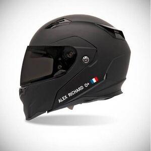 Autocollant-pour-casque-de-moto-sticker-Identite-couleur-sticker-Gris