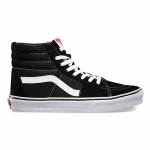 Vans Authentic Sk8 Hi Suede Nero Bianco Classic Era Old Skool sneaker uomo donna