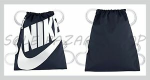 finest selection aa338 a999c Image is loading UNISEX-NIKE-HERITAGE-GYM-SACK-BA5351-451-OBSIDIAN-