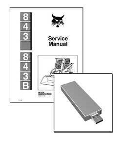 Array - details about bobcat 843 skid steer workshop repair service manual 6566091 usb   download  rh   ebay com