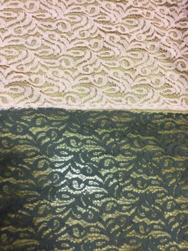 Guipure Cotton lace FABRIC Floral bridal evening dress material 0.5 metre v WIDE