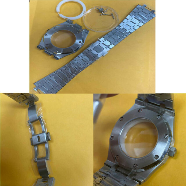 41mm Stainless Steel Watch Case Watch Strap Band Fit for NH35/NH36/4R36 Movement