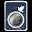 1921 Morgan Silver Dollar Dove of Peace Card BU SKU#195666