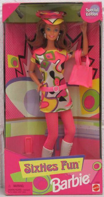 Sixties Fun Barbie Doll Special Ed Vintage Red Hair (Worn Box) 1997 17693 NRFB