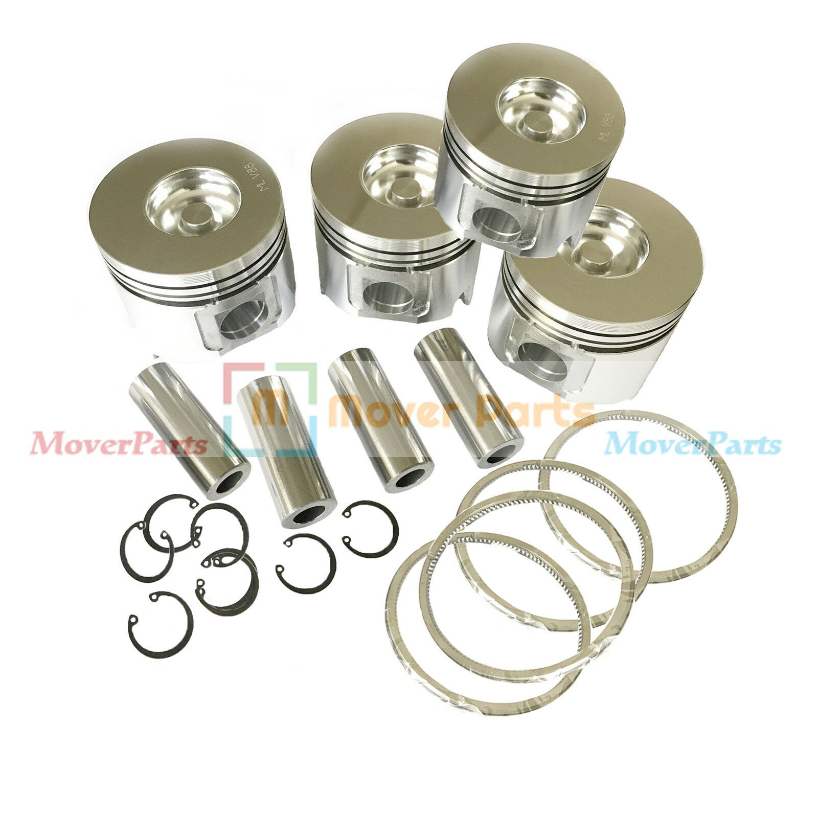Piston Kit+Ring Set YM129001-22081 YM129001-22500 for Yanmar 4TNE88 4D88E