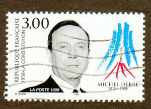 TIMBRE-1998-MICHEL-DEBRE-OBLITERE