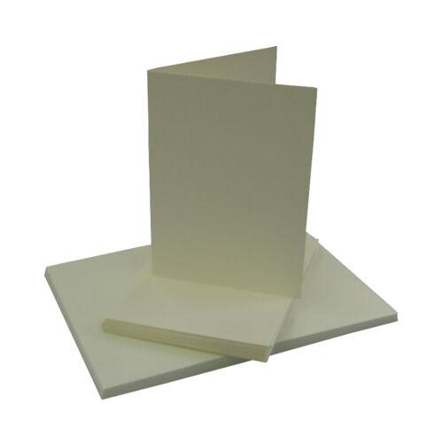 50 Blankokarten Klappkarte DIN A 6 hoch creme Kuvert