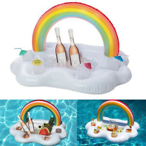 1pc Inflatable Swimming Pool Float Cup Drink Beer Holder Table Swimming Party *T