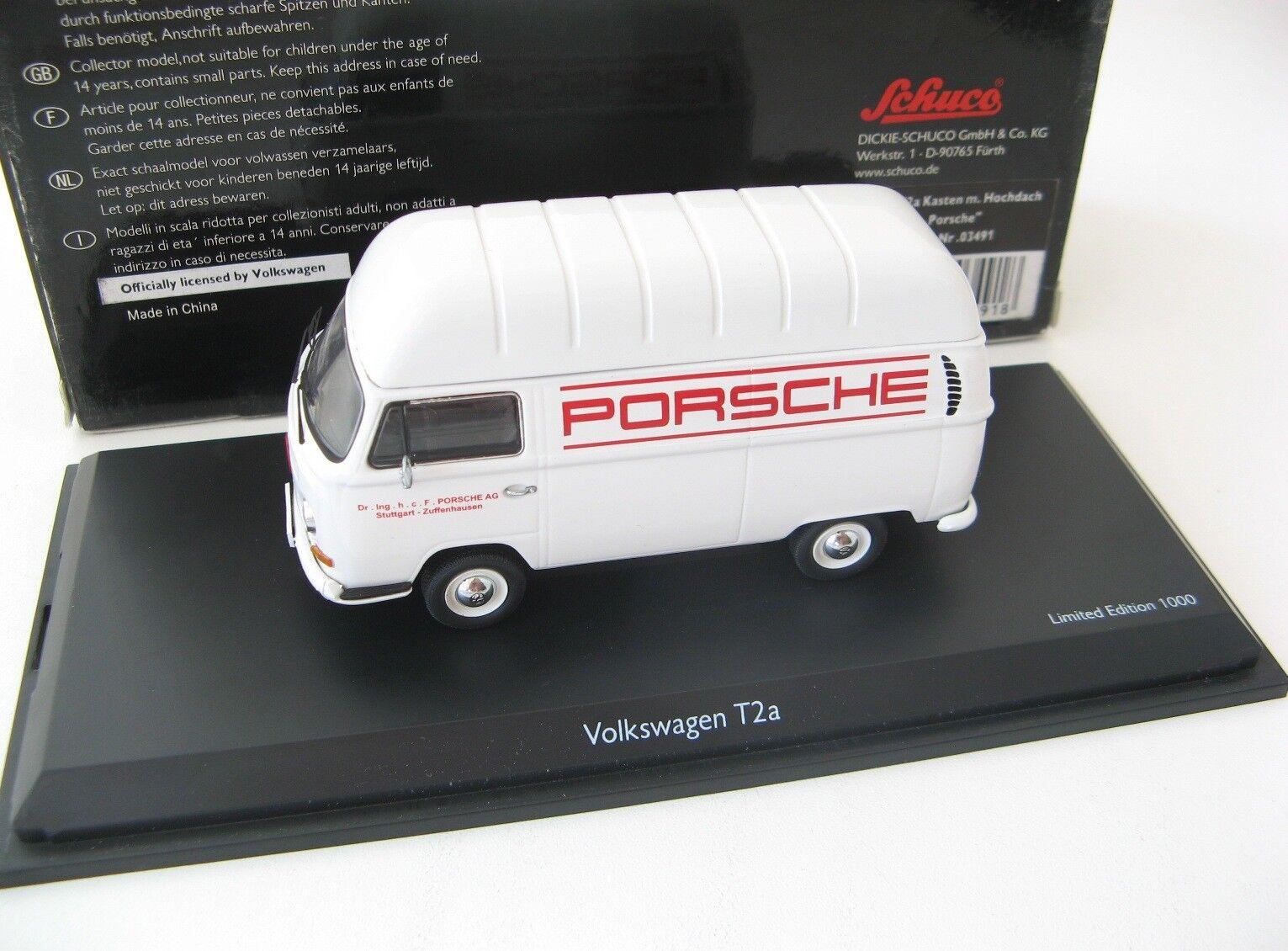 VW T2a  PORSCHE  1 43 Schuco RARE  enfin