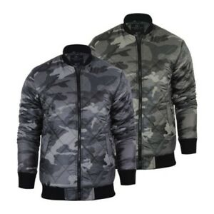 Hommes-Veste-Smith-amp-Jones-Romanesque-Camouflage-MA1-Militaire-Bomber-Harrington