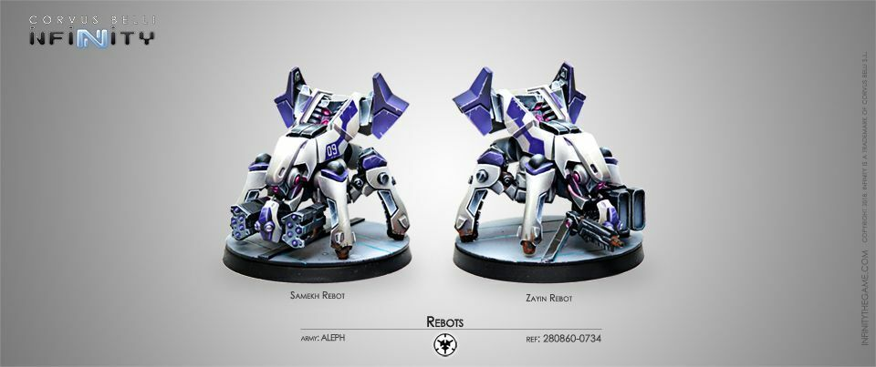 Infinity Aleph Rebots Corvus Belli 280860 Samekh Zayin Rebot Missile Launcher