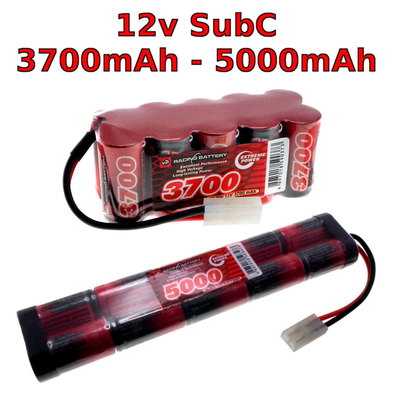 12v 3700-5000mah SubC Premium Racing RC SC pacco batterie NiMH + Connettore personalizzato