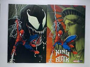 SET OF 2 King In Black #2 Michael Turner Exclusive Spiderman Variant  Venom