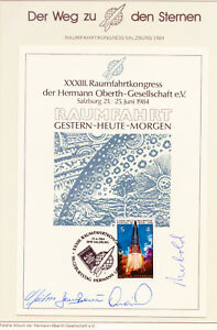 ÖSTERREICH 23. Raumfahrtkongress 1984 in Salzburg mit 4 O.U.(u.a.Merbold, Jähn