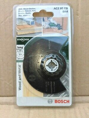 2 PCS BOSCH 20MM AND 10MM WOOD AND METAL SAW BLADES FOR PMF MULTI TOOLS