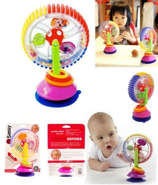 Baby Kid Child Sassy Rainbow Observe Ferris Wheel Rattle Suction