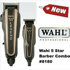 Wahl 5 Star BARBER COMBO Legend & Hero Fade Pro Clippers W/Crunch Blade Tec 8180