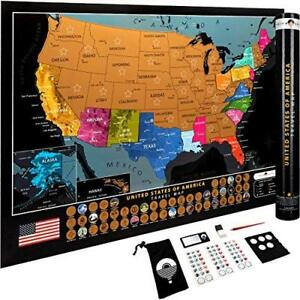 Details about Scratch Off United States Map – with US National Parks 50 USA  Landmarks –