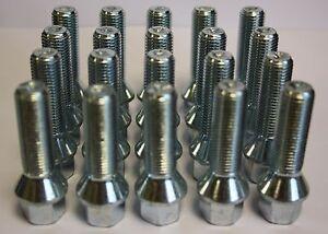 M14 X 1.5 45MM LONG RADIUS ALLOY WHEEL LOCKING BOLTS VW PHAETON POLO SCIROCCO