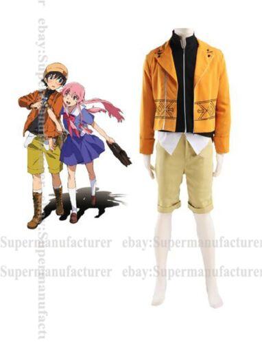 The Future Diary Amano Yukiteru Cosplay Costume,Any Size Customized Note pls