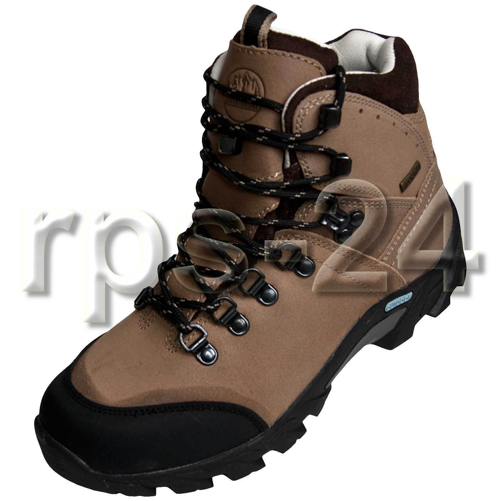 Damen Trekkingstiefel Outdoor Stiefel Wanderstiefel Leder Leder Leder Gr.41 470284