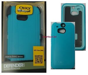 check out c637c 08dbe Details about OtterBox Defender Series Case for HTC One M8, Aqua Sky,  77-39142