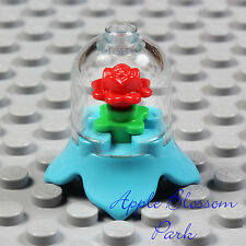 NEW Lego Minifig RED ROSE DISPLAY Azure Princess Friend Minifigure Case w/Flower