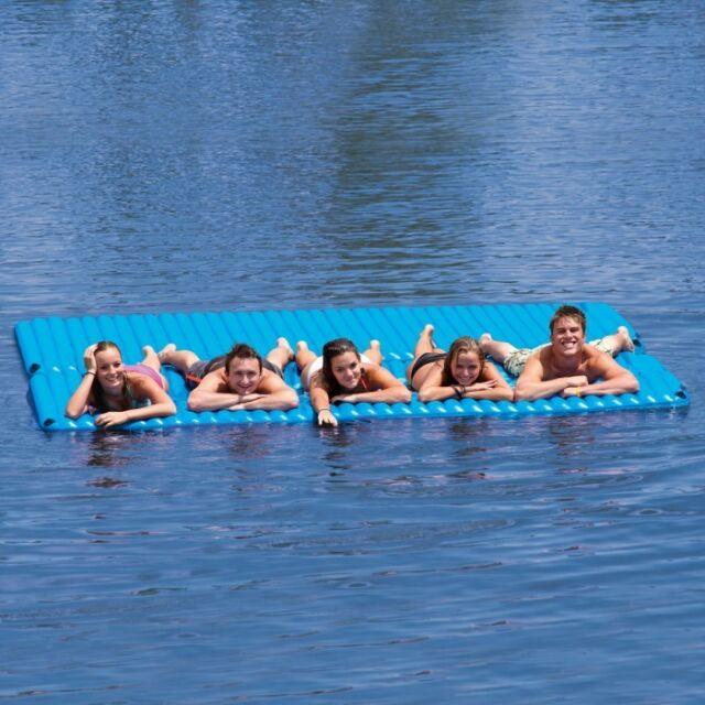 Airhead Gang Plank Inflatable Island Water Raft Lounge 6 Person Lake Pool AHGP-6