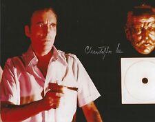 Hand Signed 8x10 photo CHRISTOPHER LEE as SCARAMANGA - JAMES BOND + COA RARE !!
