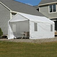 Shelterlogic Enclosed Canopy Kit With Windows, White on sale