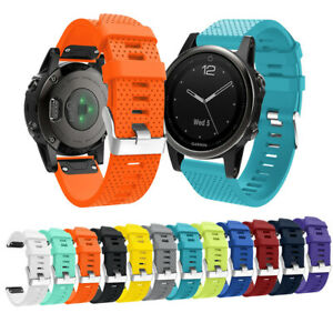 Uk 20mm Quick Release Silicone Strap Replacement Band For Garmin