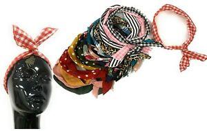 VINTAGE Rockabilly Headband Wire Hair Band Retro Ear Hairband Wrap Wired Polka
