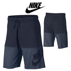 Nike-Pantaloncini-BERMUDA-con-tasche-Cotone-Sportswear-Uomo-2018-BLU-NAVY-451