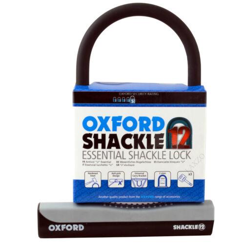 Oxford Essential Shackle 12 U-Medium Lock LK330 Bicycle Bike Security Lock 245mm