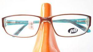 Brille-Fassung-Kunststoff-Gestell-Markenfassung-Damen-braun-tuerkis-leicht-Gr-M