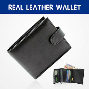 MENS SOFT BLACK GENUINE REAL LEATHER BIFOLD WALLET CREDIT CARD HOLDER PURSE - <span itemprop=availableAtOrFrom>LONDON, United Kingdom</span> - Due to our 100% and rigorous quality control procedures, we are confident that all our products are of exceptional quality, in the rare case that an item needs to be returned, we ask that  - LONDON, United Kingdom
