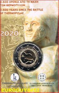 GRIEKENLAND - COINCARD 2 € COM. 2020 BU - 2500e VERJ. VELDSLAG BIJ THERMOPYLAE