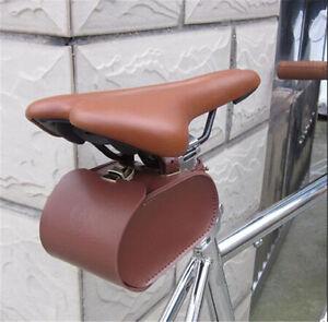 Image Is Loading Vintage Bicycle Bike Leather Saddle Bag Back Seat